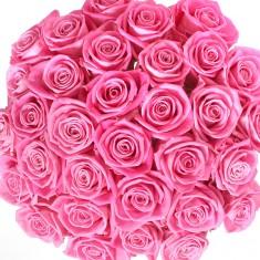 Букет из 35 лиловых роз «Аква»