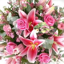 Букет цветов «Розовый туман»