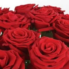 Красный букет из 51 алой розы «Признание»
