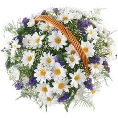 Цветы в корзине «Романтика»