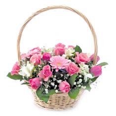 Цветы в корзинке «Презент»