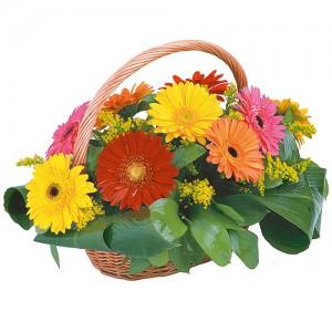 Цветочная композиция «Праздничная корзина»