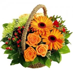 Корзина с цветами «Звездочка»