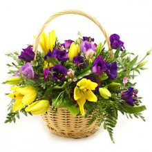 Цветочная корзина «Фейерверк»