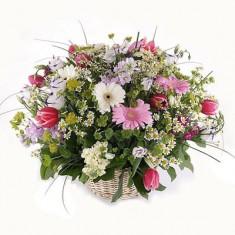 Цветы в корзине «Увлечение»