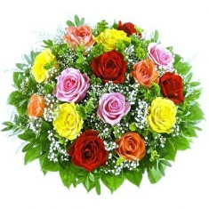 Букет из 15 роз «Гамма»