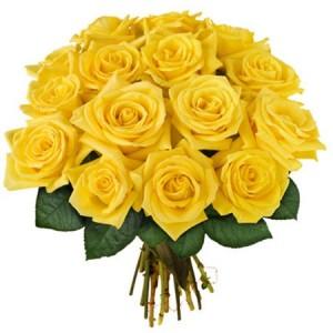 Букет из 15 желтых роз «Золото»