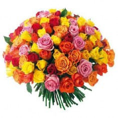 Букет 101 роза «Оранжевое лето»