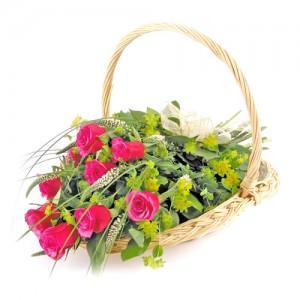 Цветы в корзине «Подарок»