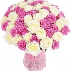 Букет из 61 розы «Нежность»