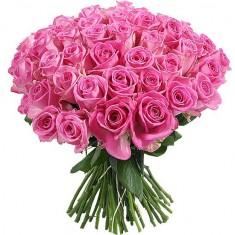 Букет из 49 розовых роз «Аква»