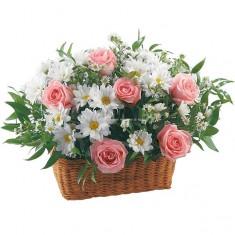 Цветы в корзине «Летний день»