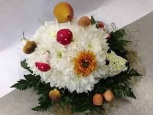 Цветочная композиция из хризантем «Ежик»