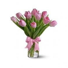 11 розовых тюльпанов «Тюльпан»