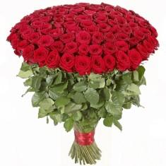 Букет из 101 красной розы(голландской)