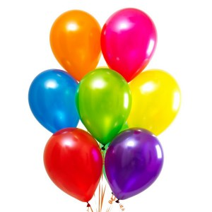 Гелиевые разноцветные шарики 7 шт.