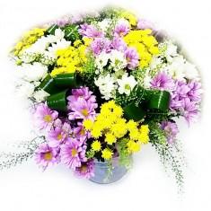 Букет цветов «Вальс хризантем»