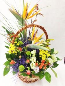 Корзина с цветами «Эксклюзив»