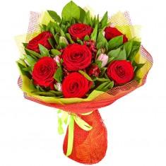 Букет цветов «Пламенное сердце»