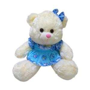 Мягкая игрушка Медведь в голубом платье