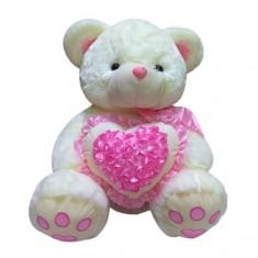Мягкая игрушка Медведь с розовым сердцем