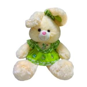 Мягкая игрушка Заяц в зеленом платье