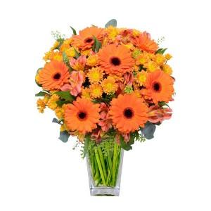 Букет цветов «Оранжевое солнце»